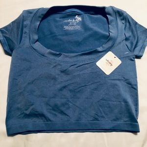 Free People Blue crop Top XS-S NWT 🔥